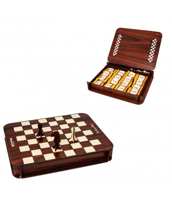 گز لقمه 30 % پسته (جعبه شطرنج)